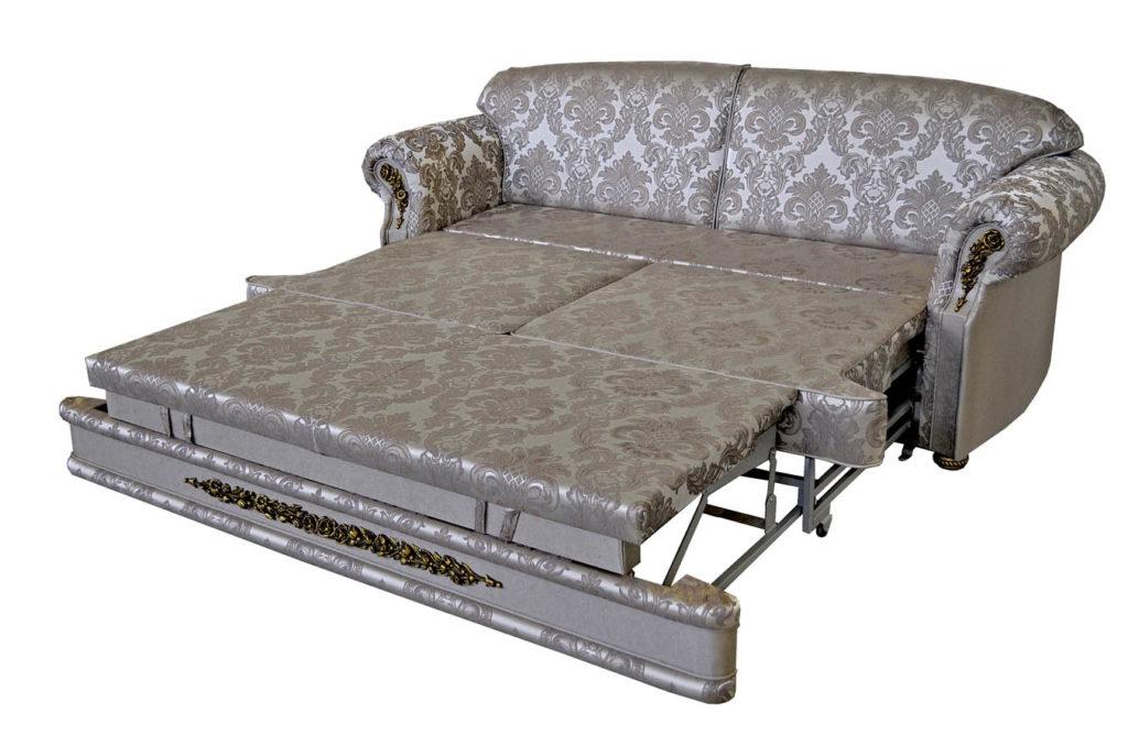 прямой диван пафос в разложенном виде