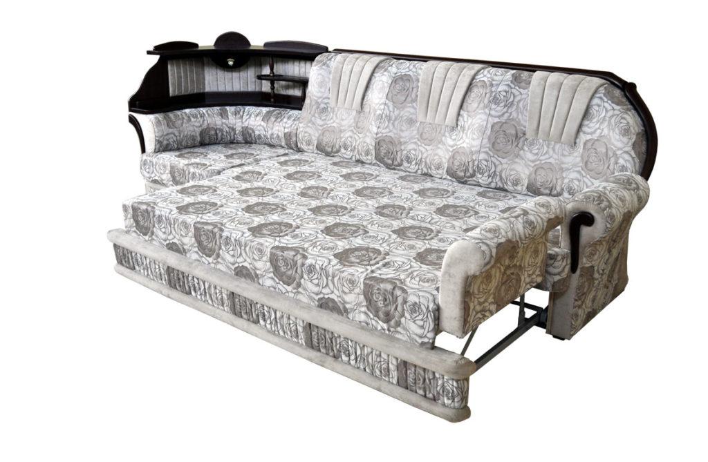 угловой диван в разложенном виде