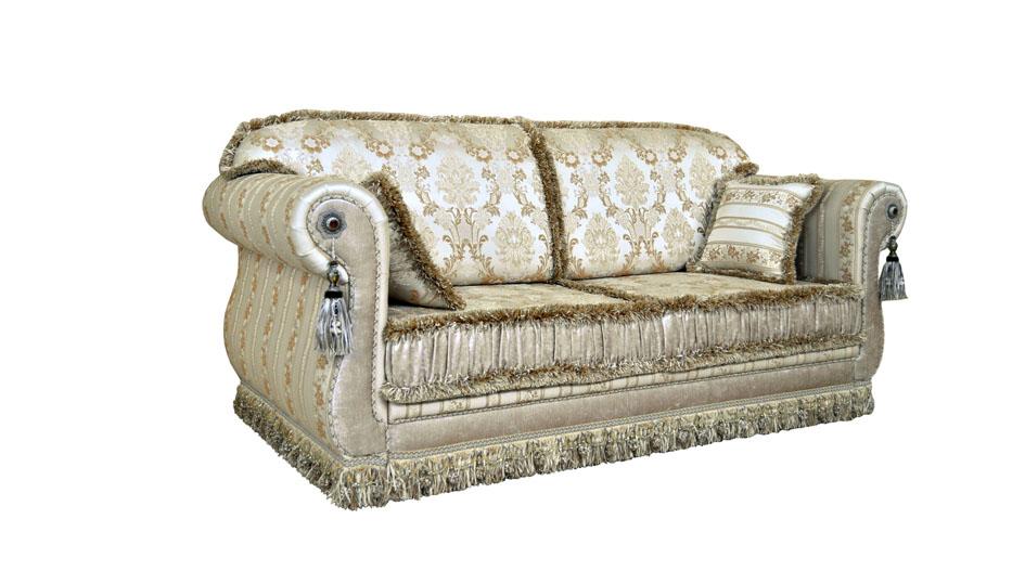 прямой диван наири со стеклярусами