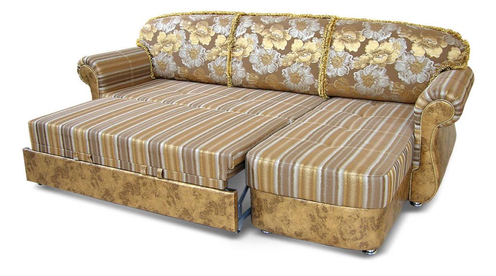 диван золотистый