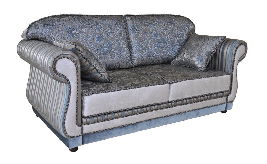 прямой диван-кровать синий