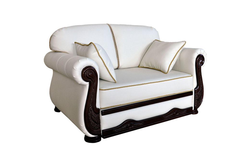 двухместный белый диван